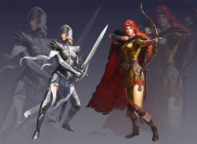 1400x1028_5577_Two_female_fantasy_warrior_2d_fantasy_character_woman_warrior_female_girl_archer_picture_image_digital_art