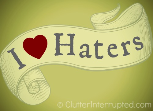 I_Love_Haters_Bumper_Sticker